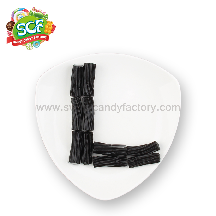 Black bulk licorice flavor licorice sticks produced by China candy manufacturer-sweetcandyfactory