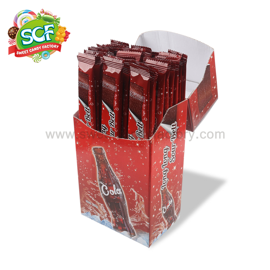 Cola flavor sour belts made by BCH from candy manufacturer-sweetcandyfactory