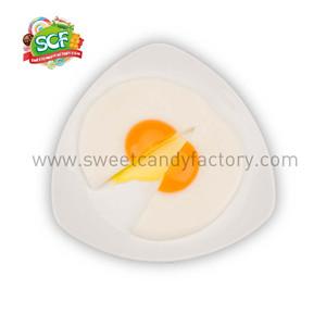 Fried egg gummy
